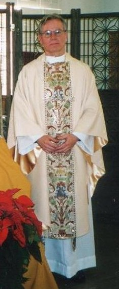 Picture of me in a chasuble.